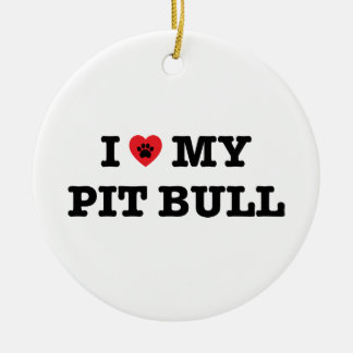 I Heart My Pit Bull Ornament