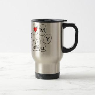 I heart my pit bull paw - dog, pet, best friend coffee mugs