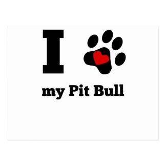 I Heart My Pit Bull Postcard