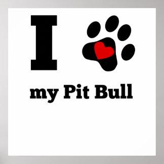 I Heart My Pit Bull Poster