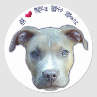 I Heart My Pit Bull Sticker