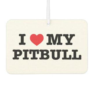 I Heart My Pitbull Car Air Freshener