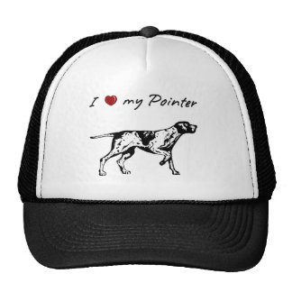 """""""I """"heart"""" my Pointer"""" with dog graphic Hat"""