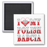 I Heart My Polish Babcia Square Magnet