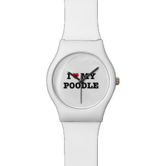 I Heart My Poodle May28th Wrist Watch