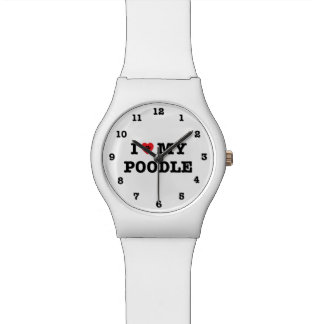 I Heart My Poodle Numbered Wrist Watch