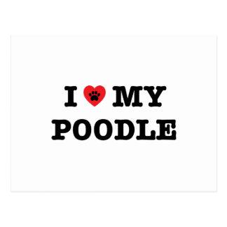 I Heart My Poodle Postcard