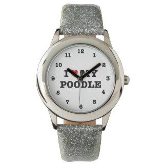 I Heart My Poodle Wrist Watch