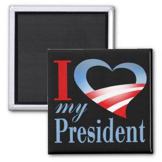 I Heart My President Magnet (black)