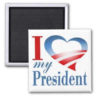 I Heart My President Magnet (white)