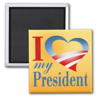I Heart My President Magnet (yellow)