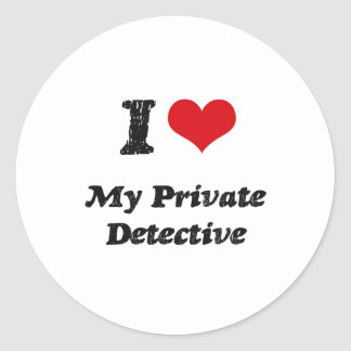I heart My Private Detective Stickers