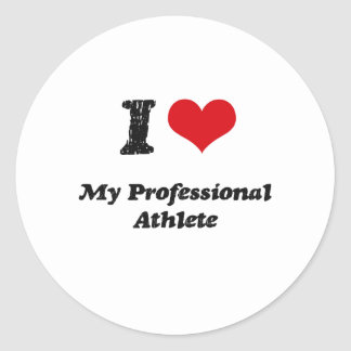 I heart My Professional Athlete Stickers