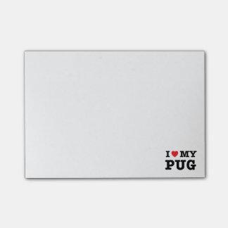 I Heart My Pug Post-it Notes