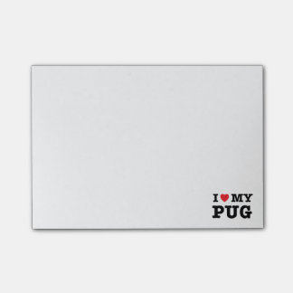 I Heart My Pug Post-it Notes Post-it® Notes