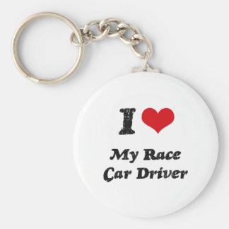 I heart My Race Car Driver Key Ring