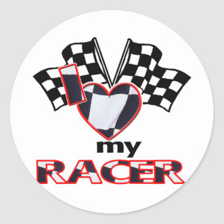 I Heart My Racer Stickers