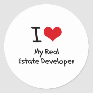 I heart My Real Estate Developer Stickers