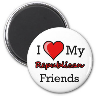 I Heart My Republican Friends Magnet
