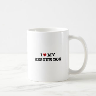 I Heart My Rescue Dog Coffee Mug