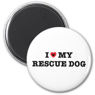 I Heart My Rescue Dog Fridge Magnet