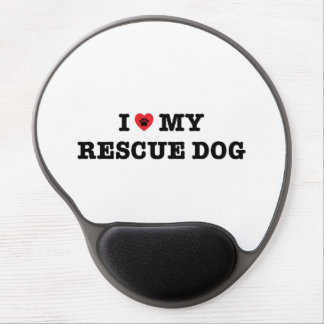 I Heart My Rescue Dog Gel Mouse Pad