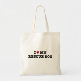 I Heart My Rescue Dog Tote Bag