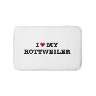 I Heart My Rottweiler Bath Mat Bath Mats