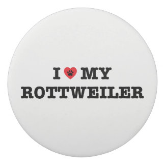 I Heart My Rottweiler Eraser