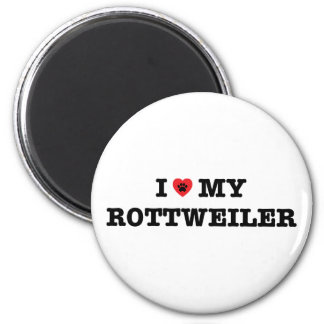 I Heart My Rottweiler Fridge Magnet