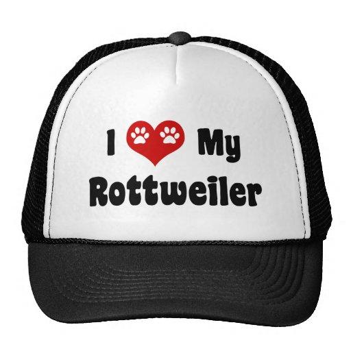 I Heart My Rottweiler Trucker Hats