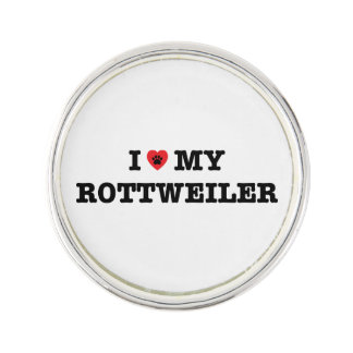 I Heart My Rottweiler Lapel Pin