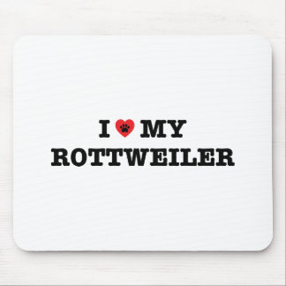 I Heart My Rottweiler Mouse Pad