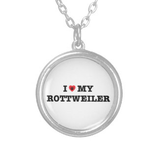 I Heart My Rottweiler Necklace
