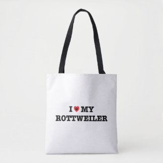 I Heart My Rottweiler Tote Bag