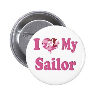 I Heart My Sailor 6 Cm Round Badge