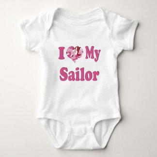 I Heart My Sailor Baby Bodysuit