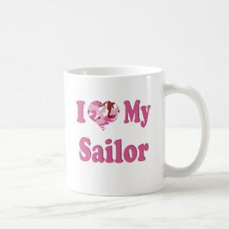 I Heart My Sailor Basic White Mug