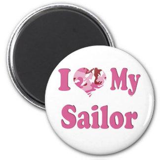 I Heart My Sailor Fridge Magnet