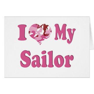 I Heart My Sailor Greeting Card