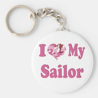 I Heart My Sailor Key Ring