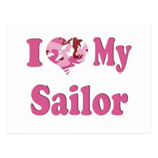 I Heart My Sailor Postcard