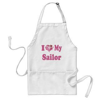 I Heart My Sailor Standard Apron