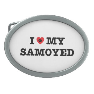 I Heart My Samoyed Belt Buckle