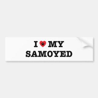 I Heart My Samoyed Bumper Sticker