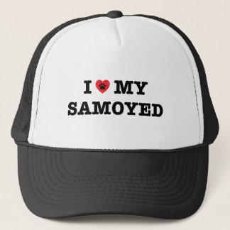 I Heart My Samoyed Trucker Hat