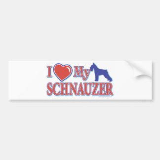 I Heart My Schnauzer Car Bumper Sticker