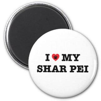 I Heart My Shar Pei Magnet