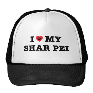 I Heart My Shar Pei Trucker Hat