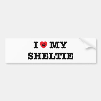I Heart My Sheltie Bumper Sticker
